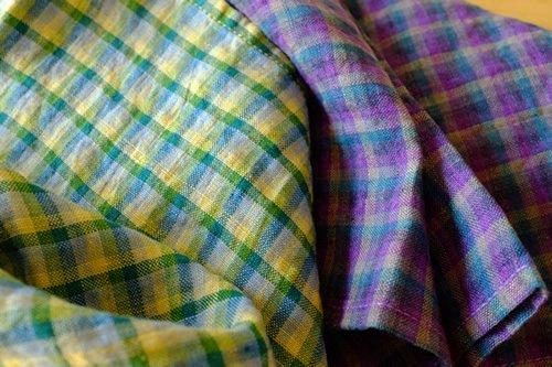 ハンカチ/麻/リーノ・エ・リーナ/リトアニアリネン/lino e lina 【イジドール】パープル【画像6】