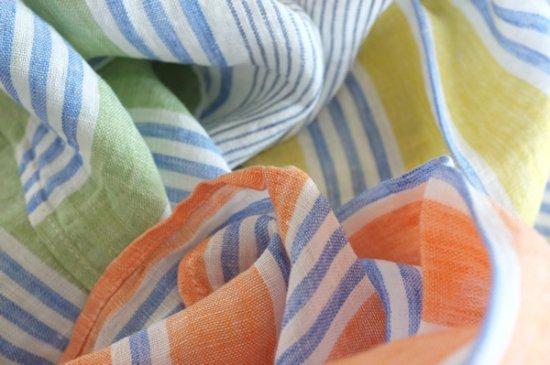 ハンカチ/麻/リーノ・エ・リーナ/リトアニアリネン/lino e lina 【フェリーチェ】オレンジ【画像4】