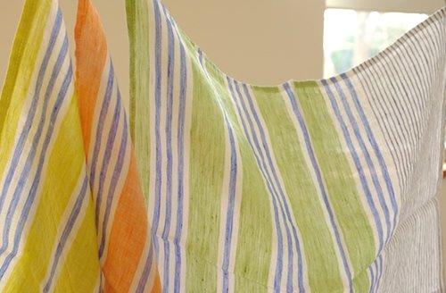 ハンカチ/麻/リーノ・エ・リーナ/リトアニアリネン/lino e lina 【フェリーチェ】オレンジ【画像6】