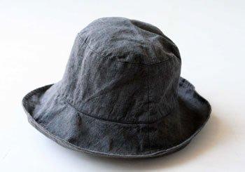 マノンビス 帽子/麻/リーノ・エ・リーナ/リトアニアリネン/lino e lina 【マノンビス】チャコールブルー