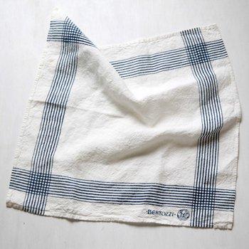 ブルー系 キッチンクロス/麻/ベルトッツィ/リネン/イタリア/BERTOZZI 【ノーヴェ・リーゲ】正方形タイプ 約46cmx約46cm