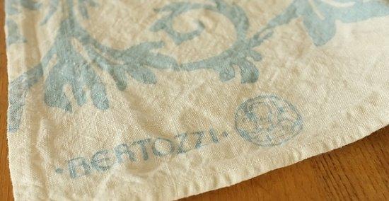 キッチンクロス/麻/ベルトッツィ/リネン/イタリア/BERTOZZI 【アカンサス】ブルー【画像5】