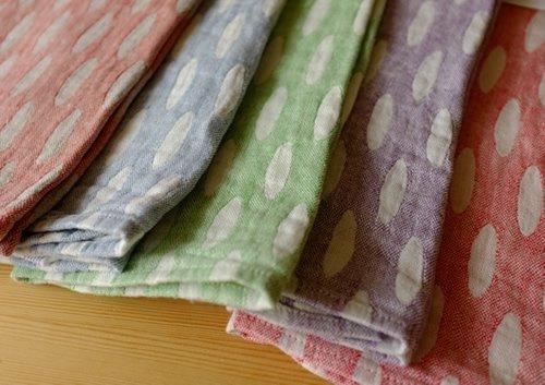 タオル/麻/ラプアンカンクリ/リネン/フィンランド/ 【HELMI】 ホワイト&ブルー  48x70cm 【画像7】