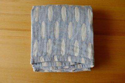 ブルー系 タオル/麻/ラプアンカンクリ/リネン/フィンランド/ 【HELMI】 ホワイト&ブルー  48x70cm