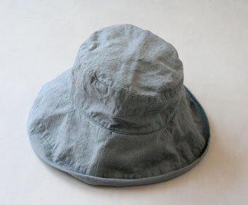 マノン 帽子/麻/リーノ・エ・リーナ/リトアニアリネン/linoelina【マノン】ブルーオリゾン