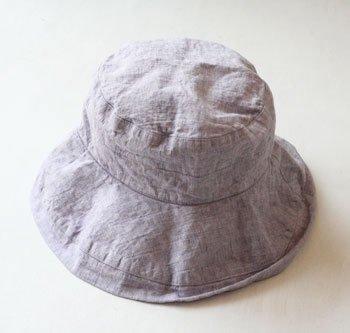 マノン 帽子/麻/リーノ・エ・リーナ/リトアニアリネン/linoelina【マノン】リラ
