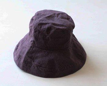 マノン 帽子/麻/リーノ・エ・リーナ/リトアニアリネン/linoelina【マノン】ヴィンテージグレープ