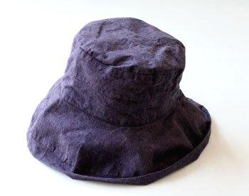 マノン 帽子/麻/リーノ・エ・リーナ/リトアニアリネン/linoelina【マノン】レザン