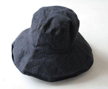 マノン 帽子/麻/リーノ・エ・リーナ/リトアニアリネン/linoelina【マノン】ネイビー