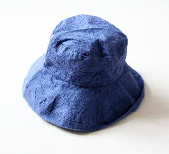 マノン 帽子/麻/リーノ・エ・リーナ/リトアニアリネン/linoelina【マノン】プルシャンブルー