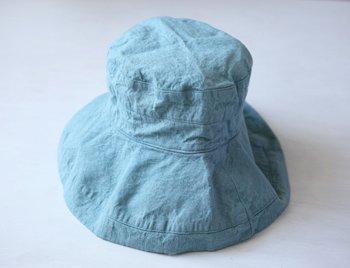 マノン 帽子/麻/リーノ・エ・リーナ/リトアニアリネン/linoelina【マノン】アクアブルー