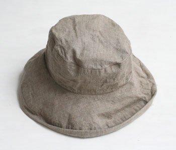 マノン 帽子/麻/リーノ・エ・リーナ/リトアニアリネン/linoelina【マノン】フラックス
