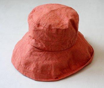 マノン 帽子/麻/リーノ・エ・リーナ/リトアニアリネン/linoelina【マノン】オランジュ