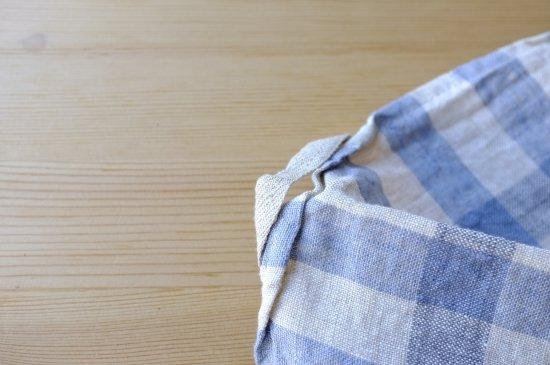 キッチンクロス/リーノ・エ・リーナ/リトアニアリネン/麻/lino e lina 【エコリエ】ブルー【画像5】