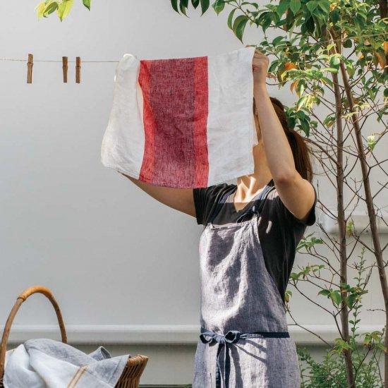 キッチンクロス/リーノ・エ・リーナ/リトアニアリネン/麻/lino e lina 【ローヌ】レッド【画像2】