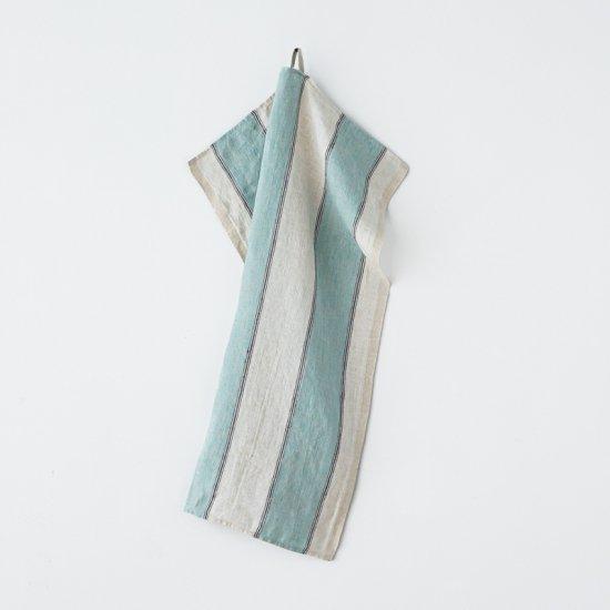 キッチンクロス/リーノ・エ・リーナ/リトアニアリネン/麻/lino e lina 【エクリューズ】ブルー