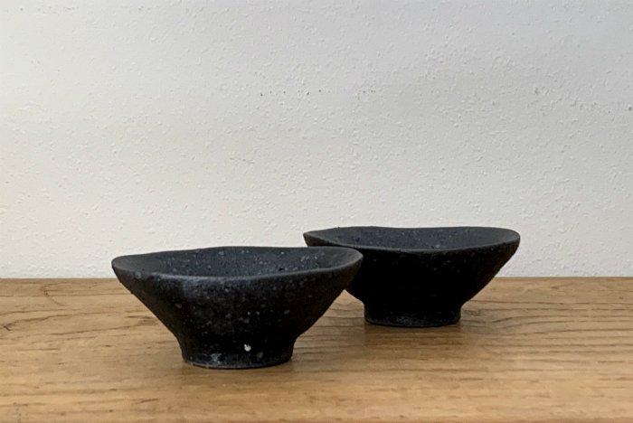 平鉢(小)/黒sabi 村上直子