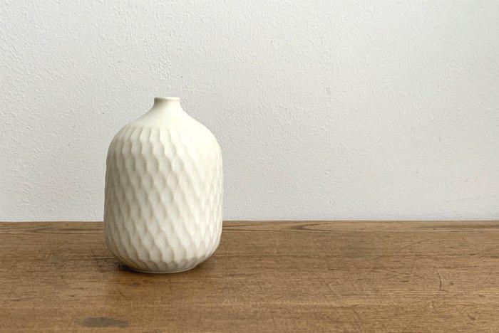花器(M)/クリームホワイト  ヤマシタマユ美