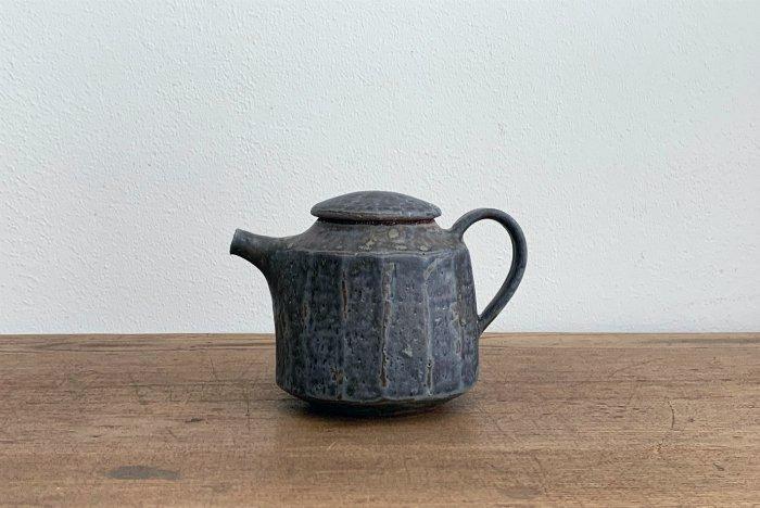 中国茶ポット/錆ブルーグレー  ヤマシタマユ美