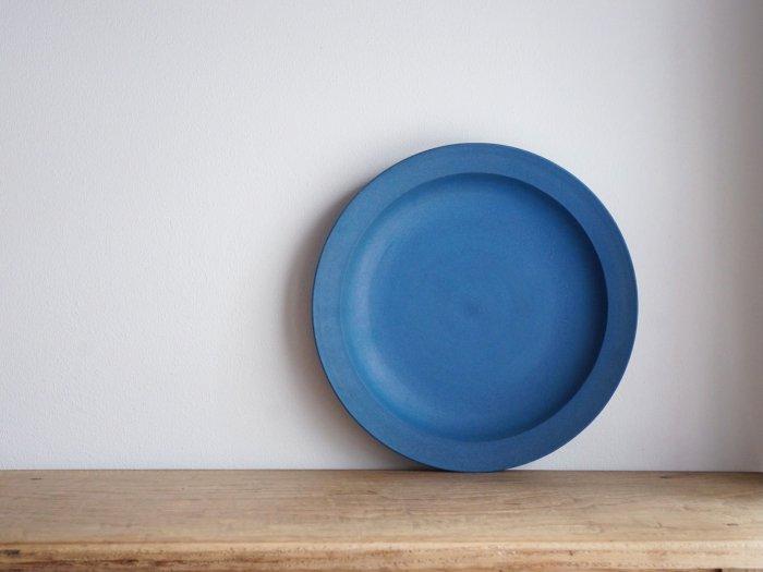 【閲覧用】深型リム皿9寸/チェリー 青漆 湯浅ロベルト淳