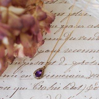 9K Amethyst Heart weave Necklace