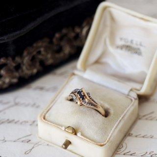 1989's 9K Sapphire+Diamond Ring