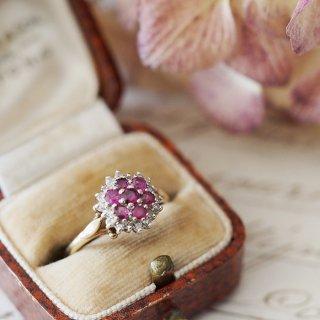 1950's 9K Ruby+Diamond Ring
