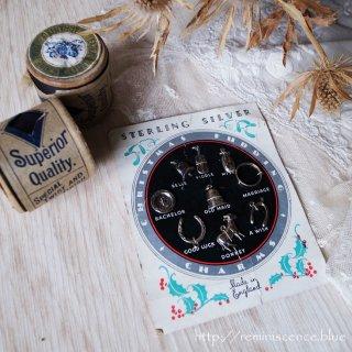 プディングに隠された小さな予言者/Antique Starling Silver Christmas Pudding Charms