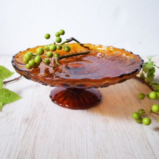 甘く優しいトフィーはいかが / Vintage Pressed Toffee Glass Cake Stand