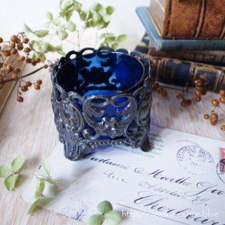 蒼に浮かび上がる華麗なロココスタイル / Antique Rococo Style Salt Dish