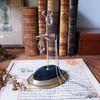 貴婦人のドレッシングテーブルから / Antique Silver Plated Hat Pin & Accessories Stand