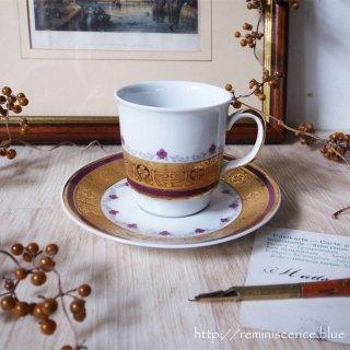 ボヘミアの可憐さと豪胆さと / Vintage Cup & Saucer from Czechoslovakia/A