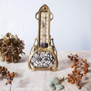 世紀末の美を纏う測定機器 / Antique Art Nouveau Desk Thermometer