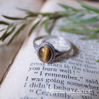 成功をもたらす虎の瞳 / Vintage Starling Silver & Tiger's eye Ring