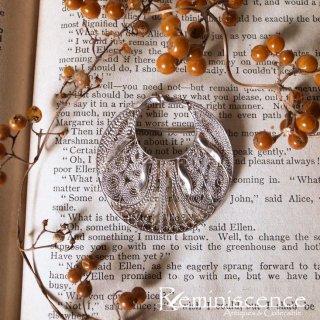 銀の線で編みあげるアールヌーヴォー / Vintage Silver Filigree Art Nouveau Brooch