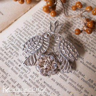 銀の細線で編まれた二羽の鳥 / Vintage Silver Filigree Birds Brooch