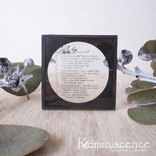 儚く美しく浮かぶ詩 / Antique Victorian Magic Lantern Glass Slide