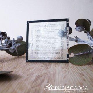 聖なる言葉をもつ硝子 / Antique Victorian Magic Lantern Glass Slide