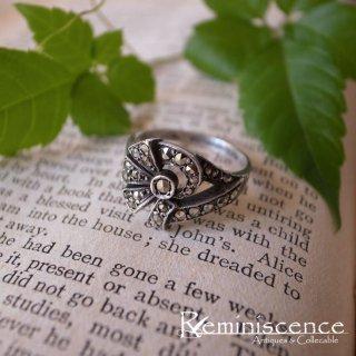 アールデコの気品 / Vintage Art Deco Sterling Silver Marcasite Ring