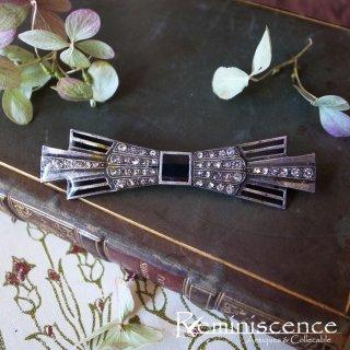ハンサムで小粋なアールデコ / Vintage Art Deco Style Ribbon Brooch