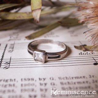 透明に輝く正方形 / Vintage Sterling Silver Ring