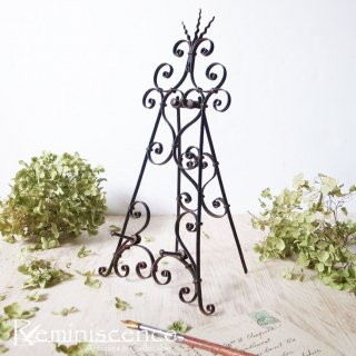曲線が美しい優雅な画架を愉しむ / Antique  Art Noveau Style Wrought Iron Small Easel Stand