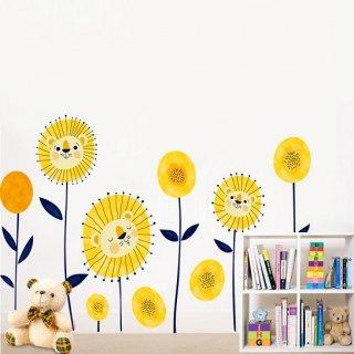 ウォールステッカー ダンデライオン おしゃれ 壁紙シール たんぽぽ 合弁花 黄色い動物 飾り キッチン 廊下 保育園 誕生日 記念日