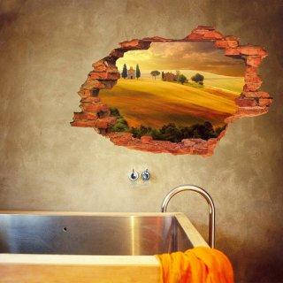 ウォールステッカー 夕暮れの砂漠 3D 壁紙シール 貼る 風景画 オアシス 取り外しできる 砂丘 アフリカ リビングの装飾 寝室の背景