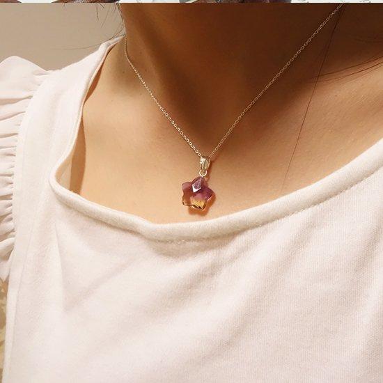 アメトリンの星型ペンダントトップの写真2 cute stone