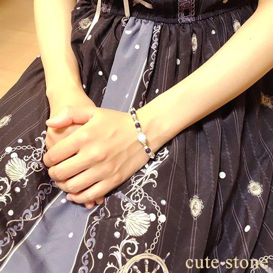 【Infinity∞Ocean】ラリマー 淡水真珠 ソーダライト アイスクリスタルを使ったブレスレットの写真1 cute stone