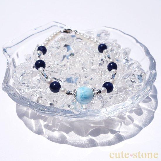 【Infinity∞Ocean】ラリマー 淡水真珠 ソーダライト アイスクリスタルを使ったブレスレットの写真2 cute stone
