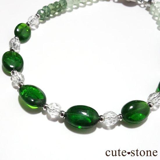 【Treasure of Dryad】クロムダイオプサイト グリーンアパタイト プレナイト 水晶 のブレスレットの写真3 cute stone