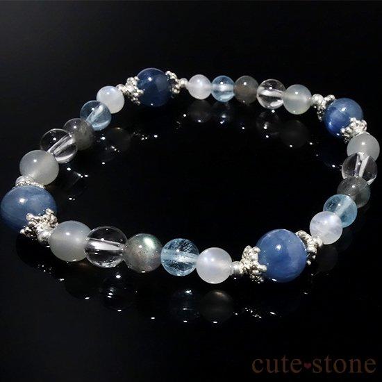 【ICE AGE】カイヤナイト ブルームーンストーン ブルートパーズ ラブラドライト アイスクリスタル グレームーンストーンのブレスレットの写真3 cute stone
