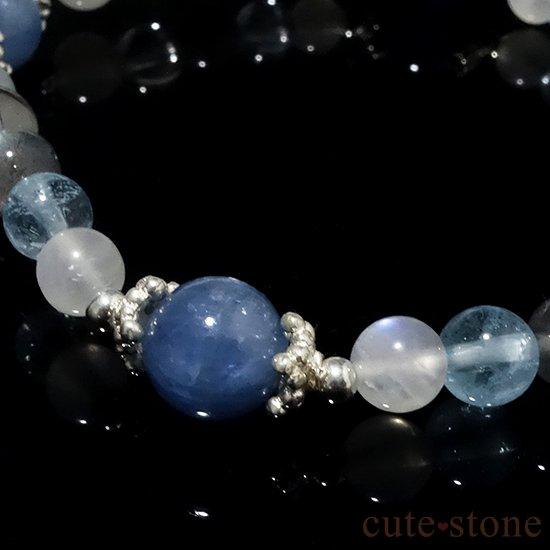 【ICE AGE】カイヤナイト ブルームーンストーン ブルートパーズ ラブラドライト アイスクリスタル グレームーンストーンのブレスレットの写真4 cute stone